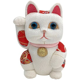 【クーポンあり】柿沼東光 招き猫 大 風水 白 | 伝統工芸士 開運 まねき猫 まねきねこ 金猫 白猫 黒猫 赤猫 置物 木目込み人形 柿沼人形 人気 おすすめ おしゃれ かわいい プレゼント 日本製