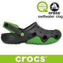 クロックス あす楽対応 スウィフトウォーター クロッグ crocs swiftwater clog 202251 328 Volt Green / Graphite  …