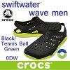 クロックススウィフトウォーターウェーブメンcrocsswiftwaterwavemen2039630DWBlack/TennisBallGreenサンダル軽量クロッグメンズネイビー水陸両用