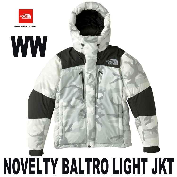 ザ ノースフェイス ステッカープレゼント ノベルティ バルトロ ライト ジャケット 天体観測や雪上ハイクにも対応、高い保温性を持つ防寒ジャケット The North Face Mens Novelty Baltro Light Jacket ND91720 (WW) ホワイトウッドランド