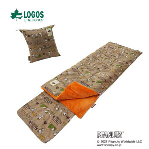 LOGOS 86001090 LOGOS SNOOPY KIDSクッションシュラフ ロゴス キャンプ フェス アウトドア 寝袋 スヌーピー キッズ 子供用