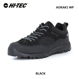 HI-TEC アオラギ WP ブラック レディース ユニセックスハイテック AORAKI WP BLACK HT HKU11アウトドアシューズ キャンプ 旅行 デイリーユース