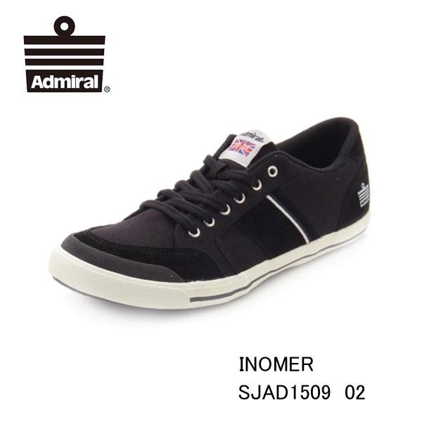 アドミラル イノマー ブラック SJAD1509 02 Black レディース メンズ ユニセックス Admiral INOMER 靴 スニーカー モノトーン ローカットシューズ