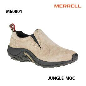 Merrell M60801 Jungle Moc Mens Taupe メレル ジャングル モック トープ メンズ アウトドア スニーカー 幅2E相当