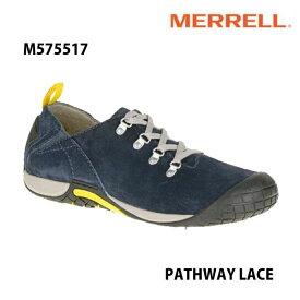 Merrell PATHWAY LACE Men's M575517 NAVY メレル メンズ パスウェイレース メンズ アウトドア シューズ 幅2E相当