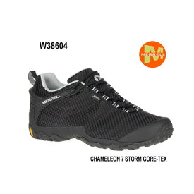 Merrell CHAMELEON 7 STORM GORE-TEX W38604 BLACK/BLACK レディース アウトドア ゴアテックス スニーカー メレル カメレオン 7 ストームゴアテックス