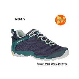 Merrell CHAMELEON 7 STORM GORE-TEX M36477 NAVY/TEAL メンズ アウトドア ゴアテックス スニーカー メレル カメレオン 7 ストームゴアテックス