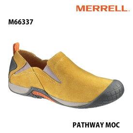 Merrell M66337 PATHWAY MOC Men's HONEY メレル メンズ パスウェイモック ハニー メンズ アウトドア シューズ 幅2E相当