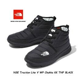 The North Face NF51986 KK 27CM 28CM 29CM あす楽対応 Traction Lite V WP Chukka (KK)Black Black ザ ノースフェイス ヌプシトラクション ライト V ウォータープルーフ チャッカ (ユニセックス)※完全防水ではありません