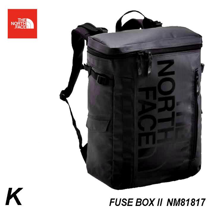 ザ ノースフェイス 進学お祝いでも売れてます♪ 2019年春夏最新在庫 BCヒューズボックス ツー The North Face BC Fuse Box II 30L ボックス型スタンダード・デイバック NM81817 (K) ブラック 大学生 高校生 パソコン収納 タブレット fuse box 2