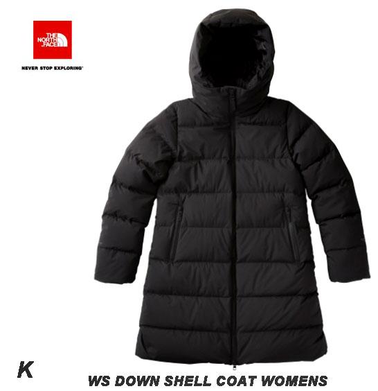 ザ ノースフェイス 2018-19年最新モデル M L XL サイズ ウィンドストッパーダウンシェルコート(レディース) The North Face WS Down Shell Coat NDW91864 (K)ブラック