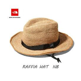 The North Face NN01554 NB ラフィア ハット 2020年夏最新在庫 段ボール梱包 日本正規品 ハット 帽子 ザ ノースフェイス Raffia Hat (NB)ナチュラルベージュ