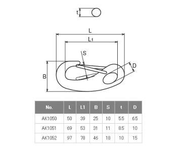 浅野金属工業マガタマフックサイズM3AK1052