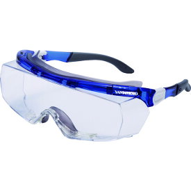 一眼型保護メガネ(オーバーグラスタイプ)レンズ色 クリア テンプルカラー ブルー 山本光学(株) SN770