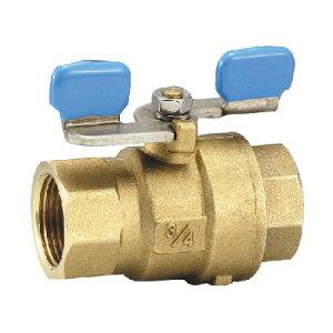 フローバル 黄銅製ボールバルブ フルボア型 G06W ネジ(Rc)1/4 G06W-02