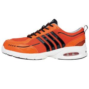 ジーベック 安全靴 ローカットメッシュ・セフティシューズ エアクッション 25.0cm オレンジ 85124