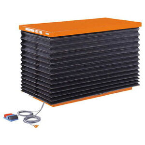 トラスコ テーブルリフト油圧ユニットタイプ ジャバラ仕様 幅750長1350高155〜1015代引不可メーカー直送品 HDL-100-0713J