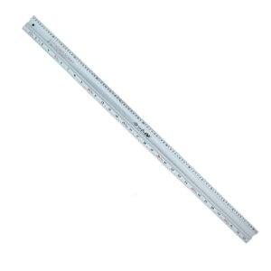 シンワ アルミカッター定規ステン鋼付カット師 1m併用目盛 左基点 65088