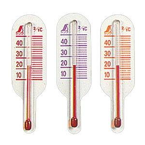 シンワ 地温用温度計 O-3 ミニA (赤、橙、紫) スリーブパック 72623
