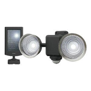 ムサシ ライテックス LEDソーラーセンサーライト 1.3W×2灯 フリーアーム式 ※取寄品 S-25L