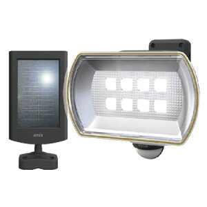 ムサシ ライテックス LEDソーラーセンサーライト 8Wワイド フリーアーム式 ※取寄品 S-80L