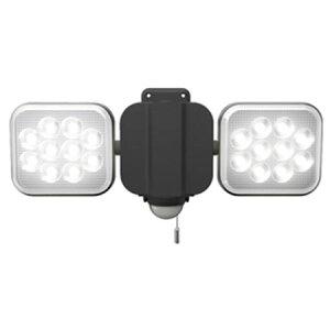ムサシ ライテックス センサーライト100V LED12W×2灯 フリーアーム式 ※取寄品 LED-AC2024