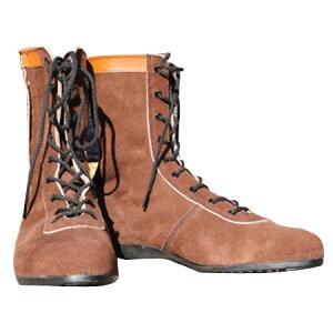 安全靴 茶 27.0cm (L53C) 牛ベロア革 ※取寄品 椿モデル AG35