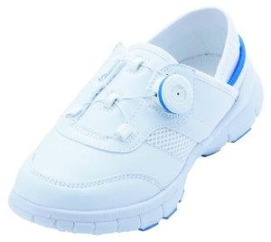 ナースシューズ 男女兼用 スリッポンタイプ ホワイト×ブルー 22.5cm IGNIO IG-N3037TGF