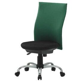 トラスコ ハイバックオフィスチェア(肘なしタイプ)グリーン TOFC330-GN