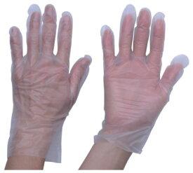 トラスコ ポリエチレン 使い捨て手袋 ウェーブカットタイプ M(100枚入) ※取寄品 TGCPE025M