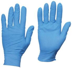 使い捨てニトリル手袋 TGスタンダード 厚0.08mm 粉無 青 L 100枚 ※取寄品 トラスコ TGNN08BL