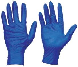 トラスコ 使い捨て天然ゴム手袋 TGセーフ 厚0.12mm 粉無 青 M 100枚 ※取寄品 TGNL12BM