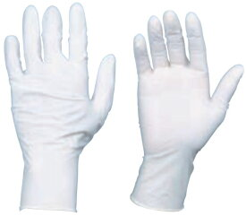 使い捨て天然ゴム手袋 TGワーク 厚0.10mm 粉付 白 S 100枚 ※取寄品 トラスコ TGPL10WS