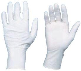 使い捨て天然ゴム手袋 TGワーク 厚0.10mm 粉付 白 M 10箱入 ※取寄品 トラスコ TGPL10WM-10C