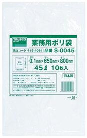 トラスコ 業務用ポリ袋 厚み0.1×300L 5枚入 ※取寄品 S-0300