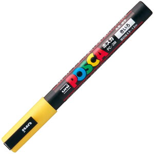サインペン ポスカ 0.9〜1.3mm PC-3M 黄 取寄品 三菱鉛筆 PC3M.2 (三菱鉛筆 文房具 文具 事務用品 筆記具)