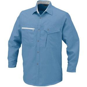コーコス 長袖シャツ ブルー L ※取寄品 K-1208