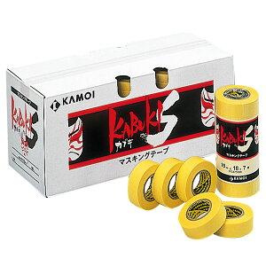 特注サイズ マスキングテープ 建築塗装用 養生用 カブキS 幅80mm 2箱20巻価格 受注生産 カモイ カモ井 kabukis-80 ( カモイ KAMOI 養生テープ 紙粘着テープ )