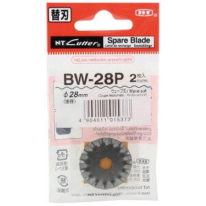 ローリングカッター替刃 BW28刃 (ステンレス ウェーブ切り 直径28mm 刃厚0.3mm) BW28 x 2枚 取寄品 NTカッター BW-28P ( 替刃 替え刃 カッターナイフ カッター エヌティー )