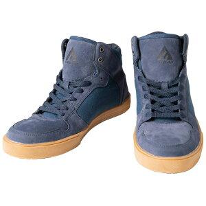 ワークシューズ ミドルカット紺 27.0 FUBAR 取寄品 おたふく FB-822 ( 安全靴 作業靴 鋼鉄 先芯 fubar フーバー )