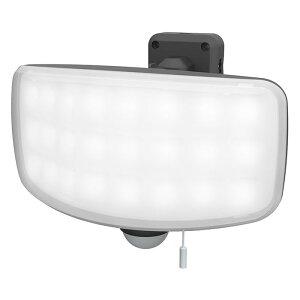 27Wワイド フリーアーム式 LEDセンサーライト 取寄品 ムサシ LED-AC1027 (全方位 探知 天井 通路 コーナー 首振り ワイド光 投光器 常夜灯)