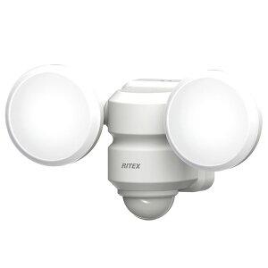 5W×2灯 LEDセンサーライト 広範囲タイプ 取寄品 ムサシ LED-AC206 (エコノミー 180度 玄関 車庫 通路 コーナー コンセント式)