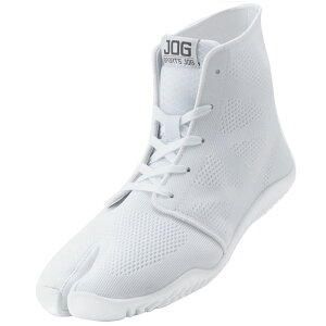 スポーツジョグ2 白 23.5cm 取寄品 丸五 ( 足袋型 スニーカー 靴ひも メッシュ ミドルカット )