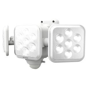 ライテックス センサーライト 乾電池式 LED5Wx3灯 フリーアーム式 取寄品 ムサシ LED-320 (乾電池 長寿命 防雨 天井 360度 真下 24時間 警戒灯 点灯 切り替え 明るさ)