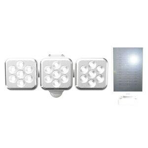 ライテックス ソーラーセンサーライトLED5Wx3灯 フリーアーム式 取寄品 ムサシ S-330L (ソーラー式 省エネ メンテナンスフリー 夜通し 点灯 バッテリー切れ 360度 常夜灯 フラッシング 24時間 警