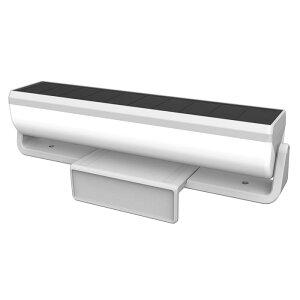 ライテックス ソーラーセンサーライト 外壁・フェンスライトLED1W 取寄品 ムサシ S-C1000L (工事 不要 置くだけ 外壁 フェンスライト センサー 夜通し 点灯 自動 消灯 ソーラー外壁 ブロック塀