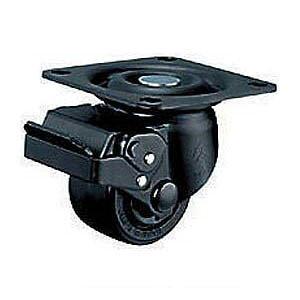 ハンマーキャスター 低床式重荷重用キャスター(ナイロン車輪・自在式ストッパー付)車輪径65mm 545H-NRB65
