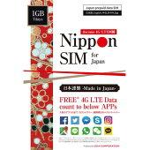 プリペイドSIMカードアプリカウントフリー1GB7daysnanoSIMデータ通信専用訪日日本で使えるNipponSIMforJapan多言語マニュアル付(日本語・英語・中国語・韓国語・タイ語)DHA-SIM-008