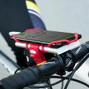 BikeTiePro Pack スマホホルダー シリコン製 ステム用 自転車 バイク ベビーカー ペットバギー 4-6.5インチ対応 モバ…