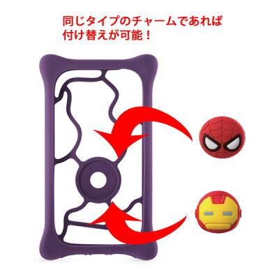 BubbleTiePhoneTieマルチケース用チャームボタンオプション品かわいいMARVELマーベルスパイダーマンアイアンマンキャプテン・アメリカマイティー・ソーダックキャットBonecollection